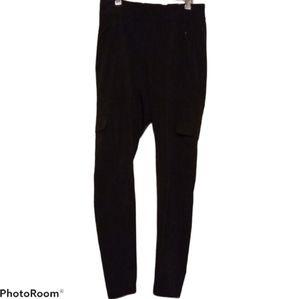 Athleta Cargo Pants Black - Pockets Elastic Waist